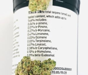 cake & chem terpene label with buds