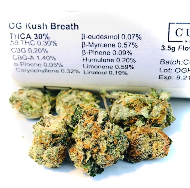 ogkb curio potency label and buds
