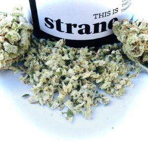 tally mon strain ground up in grinder